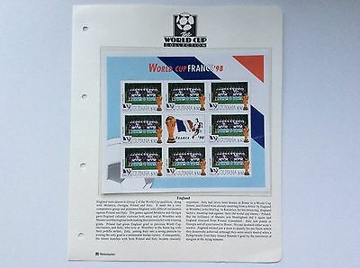 Block Of 9 X England World Cup Football Championship, France.  1998.