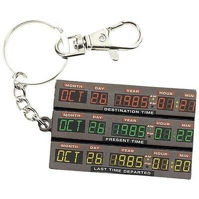 Back To The Future - Time Control Metal Keychain / Keyring - New & Official