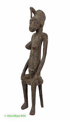 Senufo Maternity Figure Ivory Coast 28 Inch African Art SALE WAS $390