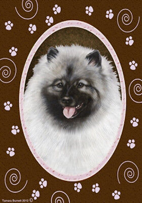 Large Indoor/Outdoor Paws Flag - Keeshond 17017