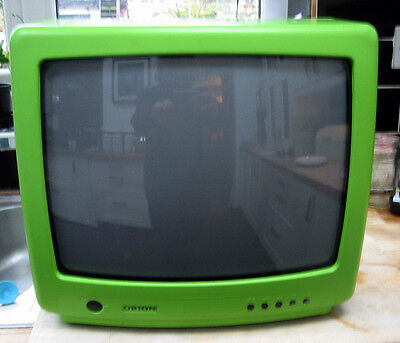 Orion GREEN CRT vintage portable colour television tv rare collectible 1980s