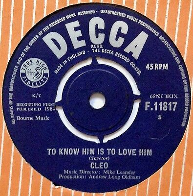 Cleo: To Know Him Is To Love Him/there Are But Five Rolling Stones