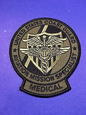 U.s. Coast Guard Aviation Mission Specialist Medical Shoulder Patch
