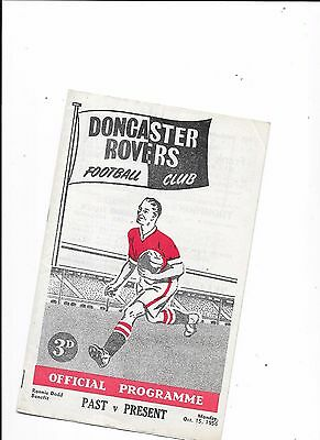 Doncaster Rovers Past v Present 15/10/1956 Ronnie Dodd Testimonial