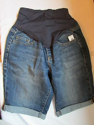 NWT Old Navy Maternity Denim Rolled Cuff Shorts size 2