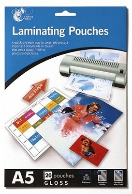 Chiltern Wove A5 Laminating Pouches Gloss Finish - Pack Of 20