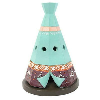 Ceramic Boho Teepee Incense Cone Holder Indian Insence Burner