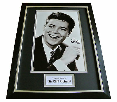 Cliff Richard Hand Signed & Framed Autograph Photo Mount Display Music Gift Coa