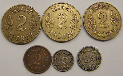 Iceland 6 Coins 1940S