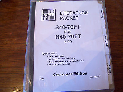 Hyster LIterature Packet for S40-70FT & H40-70FT