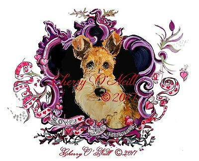 Be My Fox Terrier Valentine! Boxed Set of 10 Identical WFT Cards