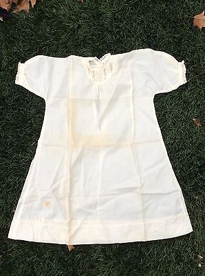 Antique Hand Made Edwardian Young Girls Nightgown For Restoration Cutup Finishin