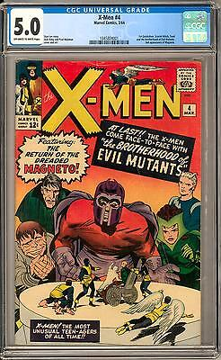 X-Men #4 CGC 5.0 (OW-W) 1st Quicksilver 1st Scarlet Witch 1st Toad 2nd Magneto