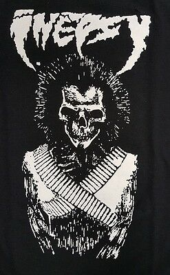 Inepsy Punk Rock Crust Black Canvas Back Patch