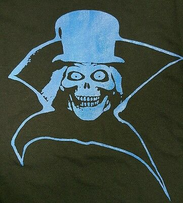 Haunted Mansion Hatbox Ghost Disneyland Classic Horror Black Canvas Back Patch