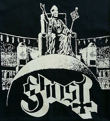 Ghost Metal Black Canvas Back Patch