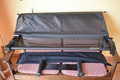 Lot Audi Q7 Dog Gate - Net Partition - Carrier 2007-2015 - Oem - Red Maletero
