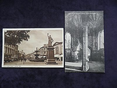2 Old Scottish Postcards Of Elgn, High Street, Chapter House Elgin Cathedral
