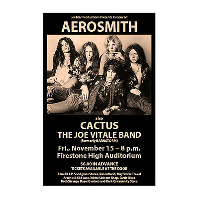 Aerosmith 1974 Cleveland/Akron Concert Poster