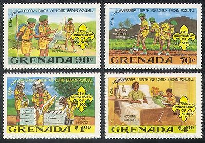 Grenada 1982 Baden-Powell/Scouts/Scouting/Youth/Leisure/Bees 4v set (b3487)