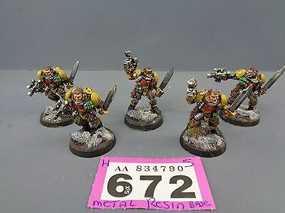 Warhammer Space Marines Metal Scout Squad 672