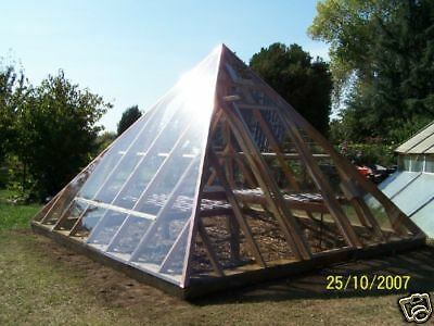 Pyramid Greenhouse Building Plans