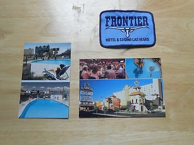 Vegas Frontier Patch Desert Rose Motel Rancho  Photo Postcard Vintage Early