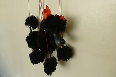 Pelham Puppets Dog black Poodle Stringed Puppet