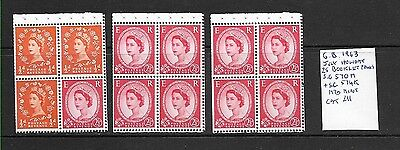 GB 1963 Wilding Booklet panes mint
