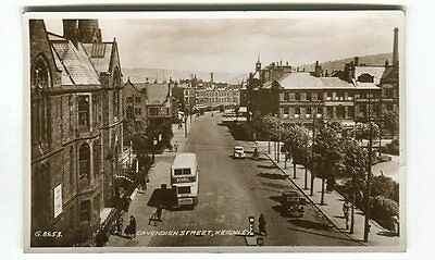 Cavendish Street, Keighley : Real Photograph Postcard: Valentine's