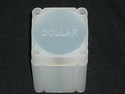 100 White Colella Large Silver Dollar Coin Tubes / Coin Tube
