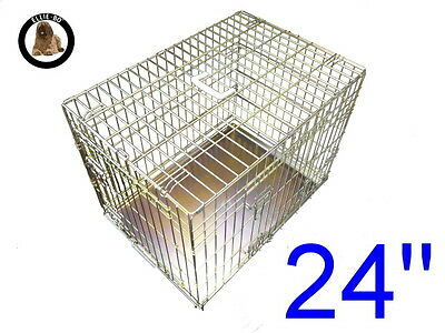"""Ellie-Bo 24"""" Small Dog Puppy Pet Cage Folding Carrier Crate In Gold"""
