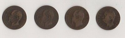 ITALY OLD COINS x 4. 1862-1893
