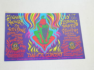 RICHARD ZACHERY FAMILY DOG SAN FRANCISCO CONCERT POSTER by MARK HANSON FD/ID 09