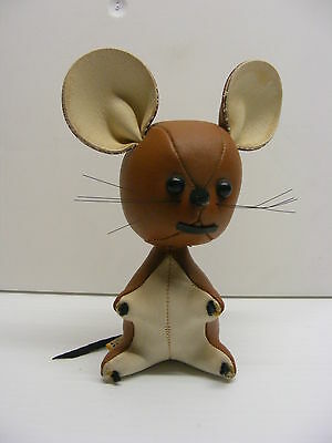 "6"" MOUSE SIMIL LEATHER  TOY r.Dakin & Co 1980s"