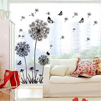 New Dandelion Fly Mural Removable Decal Room Wall Sticker Vinyl DIY Home Decor