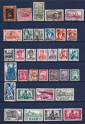 SAAR collection. Very Fine Used and Un Mounted Mint