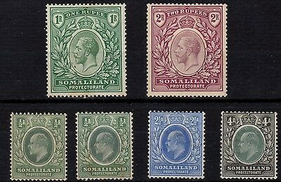 Somaliland Protectorate mounted mint selection
