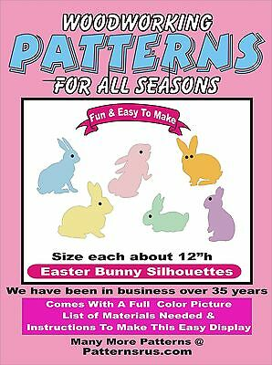 EASTER BUNNY SILHOUETTES E211 WOODWORKING PATTERN Plan Craft Yard Art