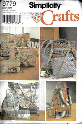 Simplicity Crafts Sewing Pattern #9779 Tote Bag Assortment