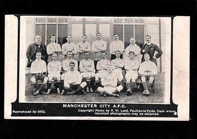 MANCHESTER CITY A. F. C. FOOTBALL TEAM OXO R. W. Lord POSTCARD 1904 - 56