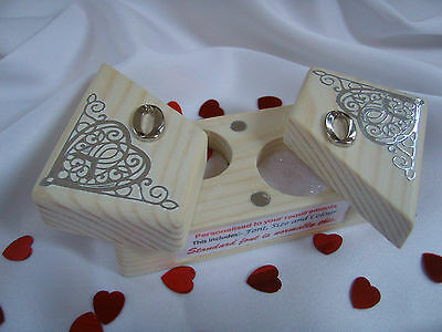 Wedding Ring Box/Bearer Case - Solid wood : Unique - Handmade - Personalised.