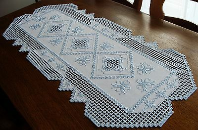 HARDANGER Embroidery - a very special TABLE RUNNER - handmade from Germany