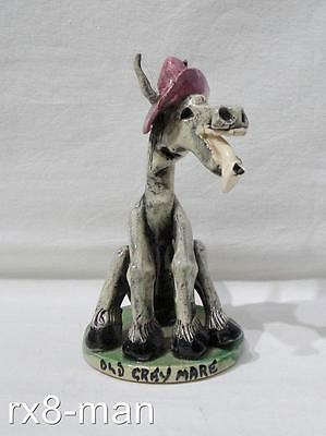 Vintage Will Young Widdecombe Fair Figure Old Grey Mare Signed Will Young