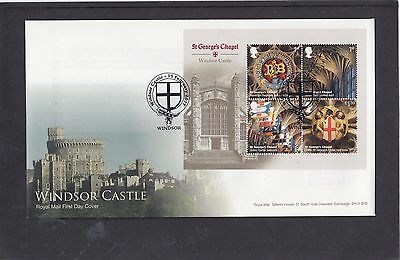 GB 2017 Windsor Castle MS Royal Mail First Day Cover FDC Windsor shield pict h/s