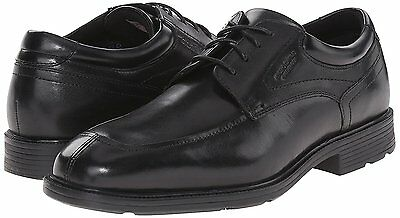 150 Rockport Mens Waterproof Leather Oxford Shoe Casual / Dress Black Size 12 M