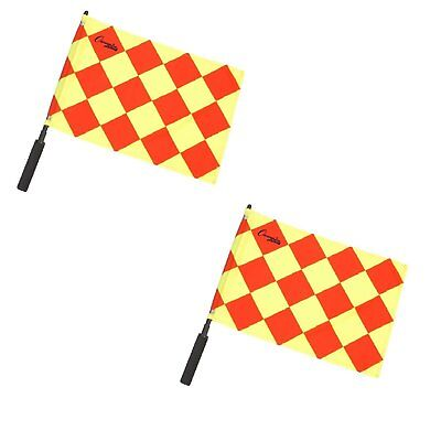 Champion Sports Official Soccer Linesmen Referee Flags Set of 2 Diamond LF3