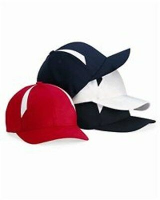 12 New Flex fit 2tone Hats Embroidered Free WUr Company Business Name