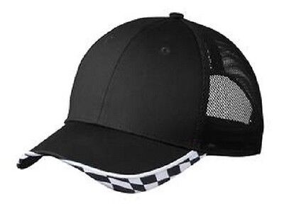 12 Checkered Racing Mesh Hats EmbroideredWUr Company /Team StructuredMidProfile