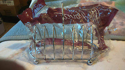 Dorothy Vernon Pin Point Silver/chrome Metal Toast Rack Vintage Mint Condition